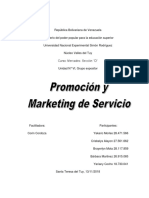 Promoción y marketing de servicio