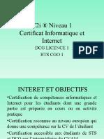 C2i R Niveau 1 Presentation