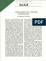Flexner Useless Knowledge.pdf
