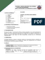 Im904 Control de Operaciones Mineras 2011-i