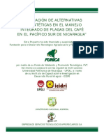 """""""VALIDACIÓN DE ALTERNATIVAS NO SINTÉTICAS EN EL MANEJO INTEGRADO DE PLAGAS DEL CAFÉ EN EL PACÍFICO SUR DE NICARAGUA"""""""