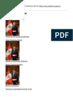 Presidencia de La Republica Del Peru - -