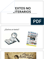 Textos No Literarios - 1mero Medios
