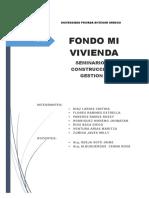 Fondo Mi Vivienda Informe Final