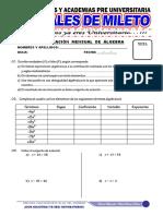 Evaluacion de Algebra y Ortografia