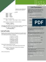 Python Chapter6 Lists