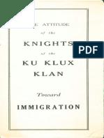 Klan Immigration (1924)