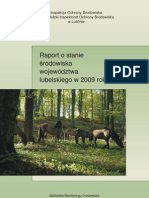 RAPORT O STANIE ŚRODOWISKA WOJEWÓDZTWA LUBELSKIEGO w 2009 roku