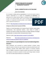 Tarea1 Aplicacion de La Robotica en La Actualidad