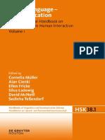 (Handbucher Zur Sprach- Und Kommunikationswissenschaft 38.1) Cornelia Müller, Alan Cienki, Ellen Fricke, Silva H. Ladewig, David McNeill, Sedinha Teßendorf (Eds.)-Body – Language – Communication_ an I