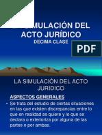 10 MA CLASE LA SIMULACION DEL ACTO JURIDICO 10.ppt