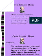 CAREER BEHAVIOR THEORY