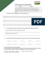 Prueba re-evaluación 5° básico lenguaje