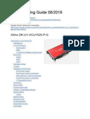 ThomasBlock's FPGA Mining Guide | Coolant | Liquids