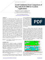 Computations of Geoid Undulation from Comparison of GNSS/Levelling with EGM 2008 for Geodetic Applications by Oluyori, P. D., Ono, M. N. and Eteje, S. O.