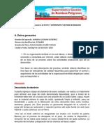 """Trabajo Práctico No. 4 Indicadores de Respel""""Supervision y Gestion de Residuos Peligrosos Amanda Guzman"""