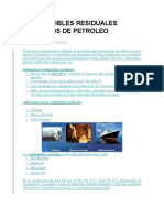 Combustibles Residuales Derivados de Petroleo