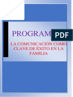 Programa - La Comunicación