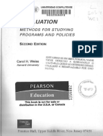Evaluation Methods for Studying Programs and Policies - Carol H. Weiss