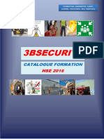 Formation, Diagnostic, Audit, Conseil, Assistance, Multiservices 3bsecurite Catalogue Formation Hse 2016