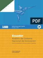CTI MON Ecuador Análisis del Sistema Nacional de Innovación.pdf