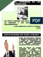 Tema 4. Las Teorías Literarias en Las Clase de Literatura.
