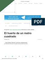 El Huerto de Un Metro Cuadrado