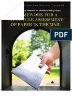 Framework for a Life Cycle Assessment of Paper in the Mail