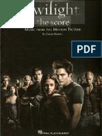 Crepúsculo (Twilight - the score) - Libro de partituras - sheet music.pdf