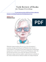 The New York Review of Books Why WikiLeaks Changes Everything