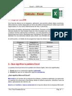 I - Conceptos y Descripción Del Entorno de Excel