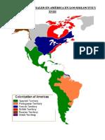 Dominios Coloniales en América en Los Siglos Xvii y Xviii