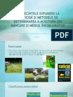 Consecintele Expunerii La Pesticide Si Metodele de Determinarea
