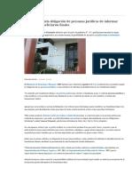 Gobierno Regula Obligación de Personas Jurídicas de Informar Sobre Sus Beneficiarios Finales _ Economía _ Gestion