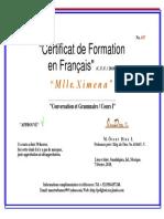 Certificat Du Francais