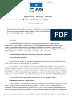 Resumo - Delegação No Serviço Público (Direito Administrativo)