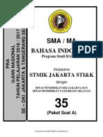 Soal Pra UN B. Indonesia SMA Bahasa Paket a (35) 2018
