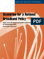 Scenarios for a National Broadband Policy