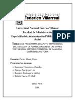 Los Programas de Apoyo Emp. y Formalz Mypes.ultimo Actualizacion-V1