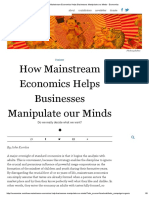 How Mainstream Economics Helps Businesses Manipulate Our Minds - Evonomics