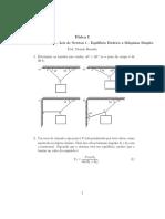 Lista 2 - Leis de Newton 1 - Equilíbrio Estático