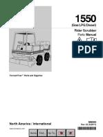 Tennant 1550 Parts Manual