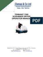 Tennant 7300 Operator Manual