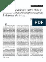 Sobre Las Relaciones Entre Ética y Politica