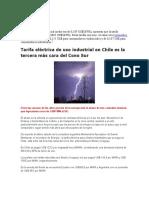 Tarifas Electricas en Chile
