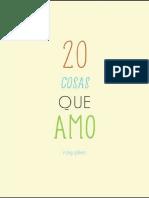 20 Cosas Que Amo-Ricky Galvez