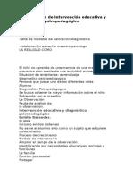Transcripción de Intervención Educativa y Diagnóstico Psicopedagógico