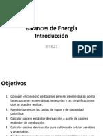 Balances de Energía I