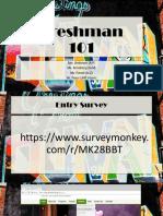 Fall Freshman 2018-19
