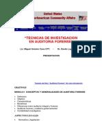USA - Tecnicas de Investigacion Auditoria Forense